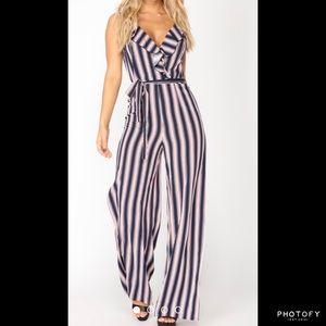 Fashion nova loyal stripe jumpsuit